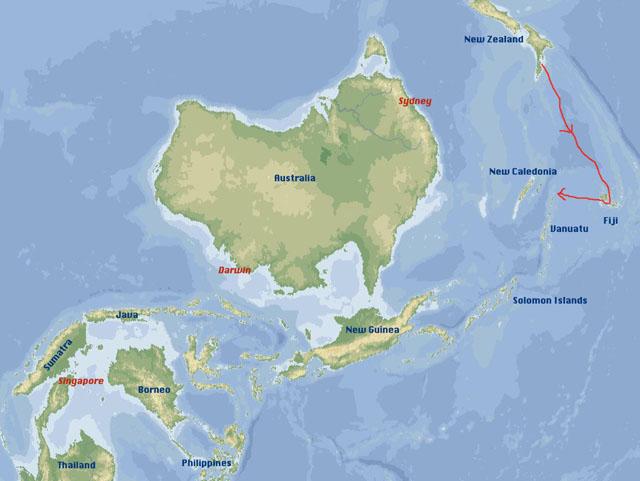 Scorpio sails from fiji to vanuatu ourworlsdownunder gumiabroncs Images