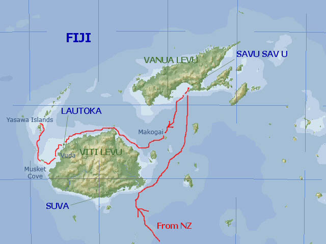 Google Fiji Map