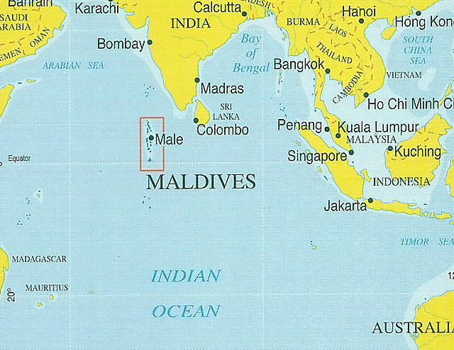 Scorpio At Indian Ocean Islands - Where is maldives