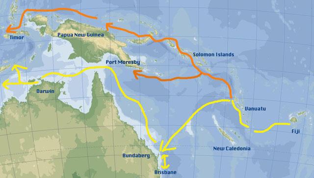 Scorpio Sails From Fiji To Vanuatu - Where is vanuatu